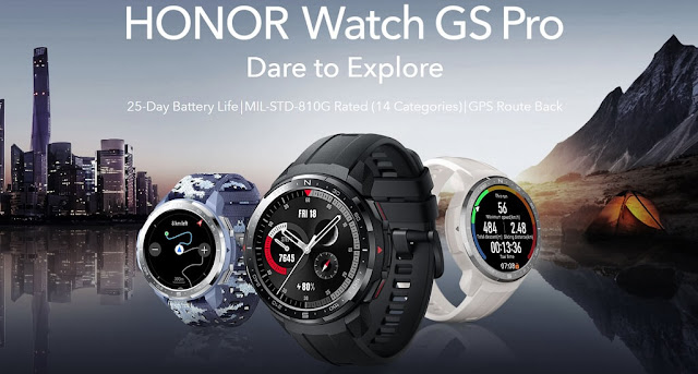 Honor Watch GS Pro Launched With 1.39-inch Circular AMOLED Display, Bluetooth 5.1, Water Resistant & More
