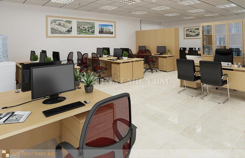Tư vấn thiết kế phòng làm việc sử dụng nội thất đơn giản