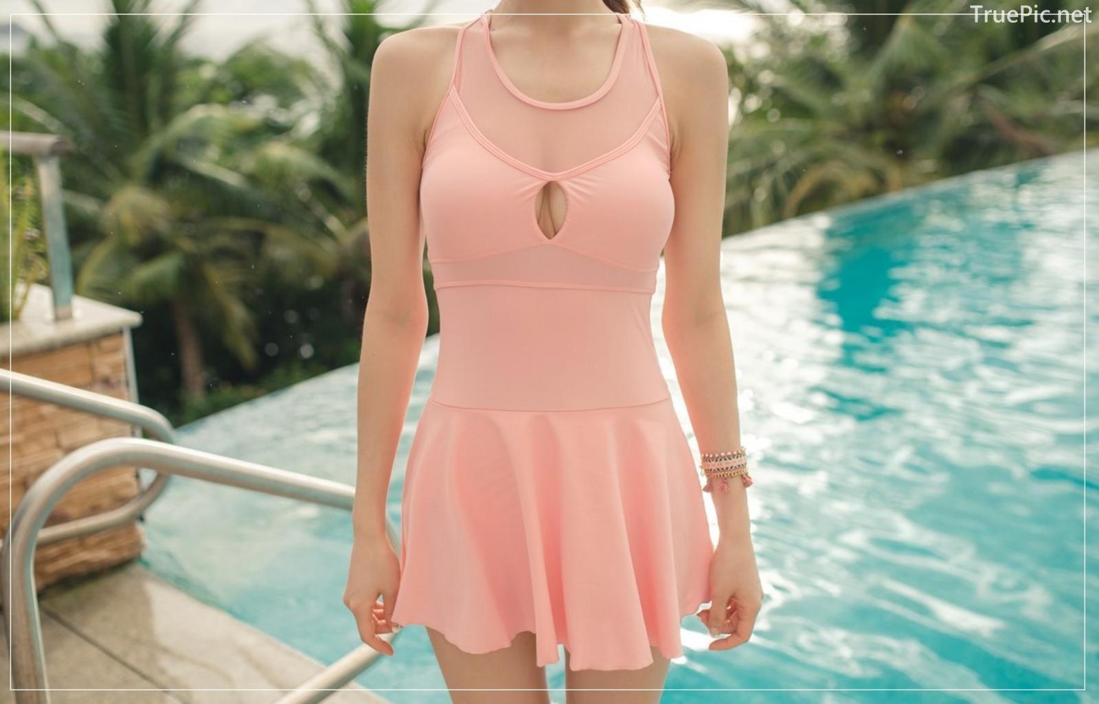 Korean model fashion - Park Jeong Yoon - Amanda One Piece Swimsuit - Picture 3