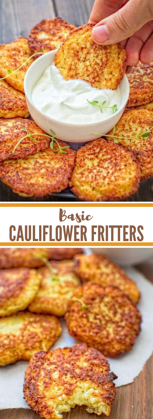 BASIC CAULIFLOWER FRITTERS #cauliflower #vegan #basic #vegetable #easy