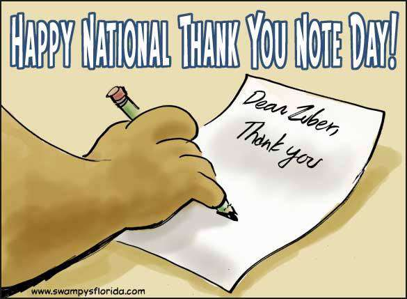 National Thank You Note Day Wishes