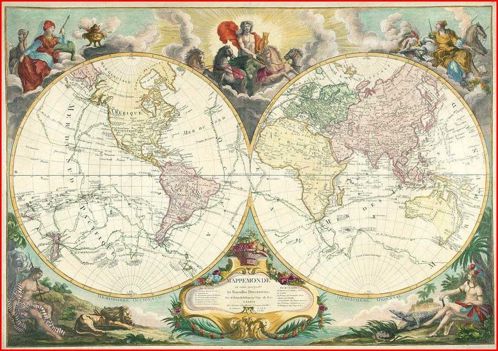 Gambar Peta Dunia Tahun 1783