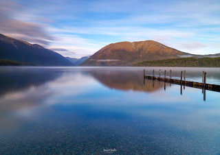 Lake Rotoiti, Lake Rotoiti Jetty, Nelson, Nelson Lakes, New Zealand, NZ, Sunrise
