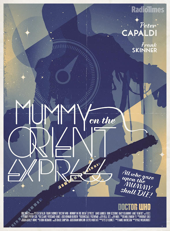 Doctor Who Mummy Orient Express retro poster