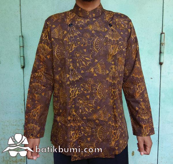 Surjan Batik Cap Smoke Kipas