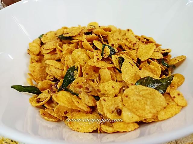 resepi cornflakes salted egg