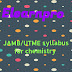 JAMB/UTME syllabus for chemistry