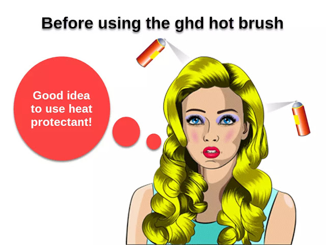 Before using the ghd hot brush