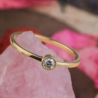 inel logodna zehava aur-galben diamant