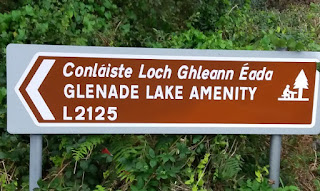Sign to the left for Glenade Lake Amenity Leitrim