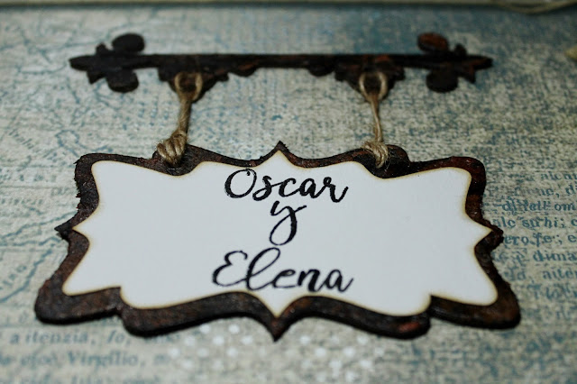 Troquel Hanging Sign de Tim Holtz