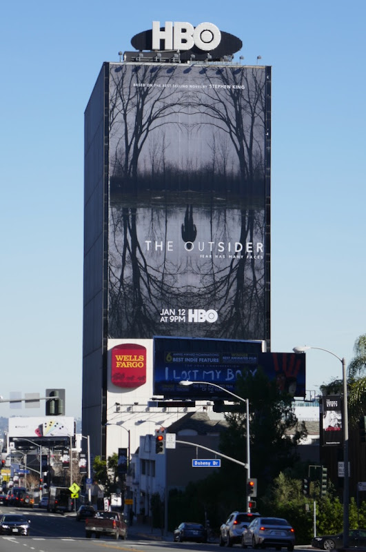 Outsider giant series premiere billboard