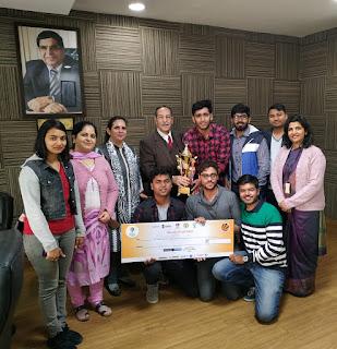 मानव रचना यूनिवर्सिटी के छात्रों ने जीता स्मार्ट इंडिया हैकाथॉन-2019 का खिताब