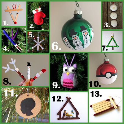 Handmade Ornament Round-Up