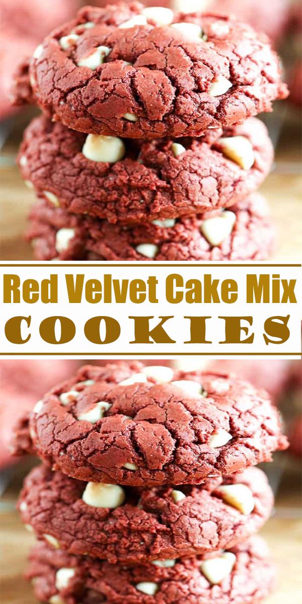Red Velvet Cake Mix Cookies #Red #Velvet #Cake #Mix #Cookies #RedVelvetCakeMixCookies