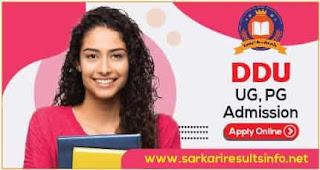 DDU Gorakhpur University UG, PG Admission