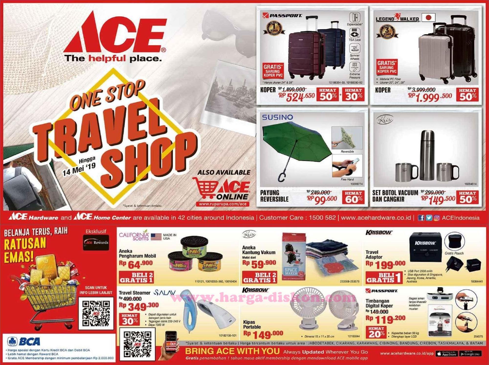 Promo Ace Hardware Terbaru Produk Perlengkapan Travel Hingga 14 Mei 2019 Harga Diskon