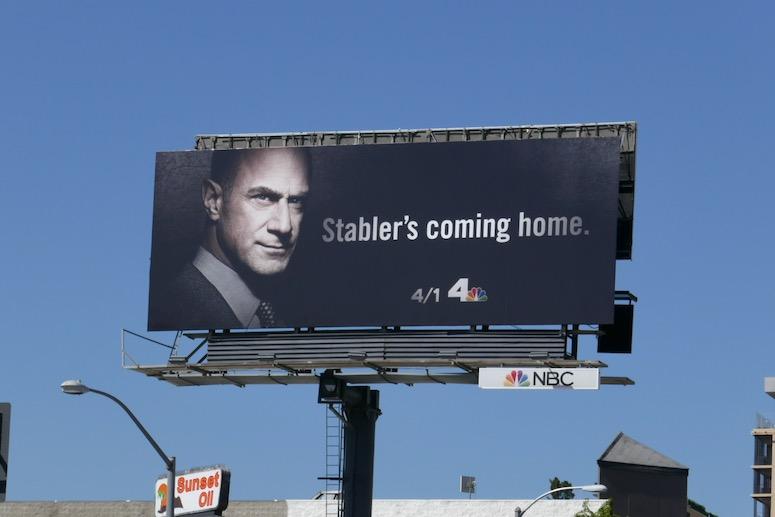 Stabler Law Order Organized Crime billboard