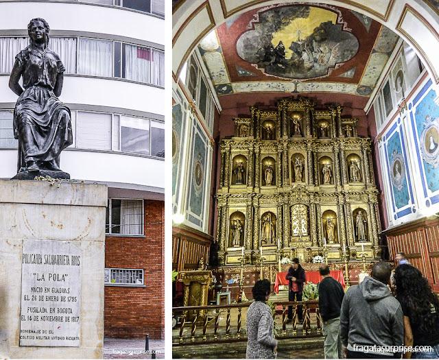 Monumento a La Pola e Igreja de La Candelaria, Bogotá, Colômbia