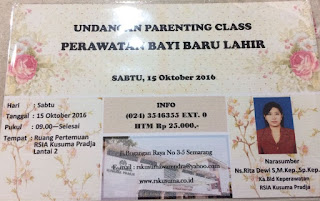Undangan Parenting Class Perawatan Bayi Baru Lahir