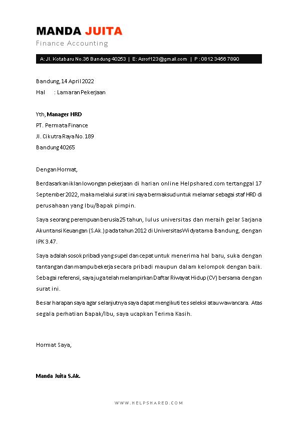 Kop Surat Lamaran Kerja 3