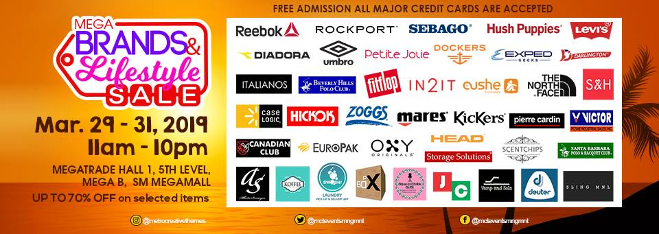 Manila Shopper: Megabrands & Lifestyle Sale: March 2019