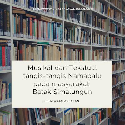 musikal dan tekstual tangis tangis namabalu pada masyarakat simalungun