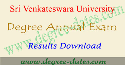 SVU degree results 2018 Sri Venkateswara university ug result date