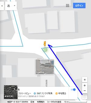 googleマップ、ストリートビューの使い方。操作方法を説明。好きだったあの娘、大嫌いだった人のお家の今、現在を調べる。