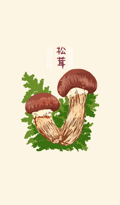 Matsutake mushrooms Simple
