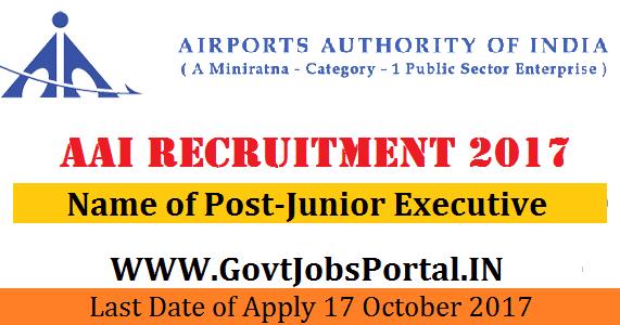 Airports Authority Of India Recruitment 2017 200 Junior