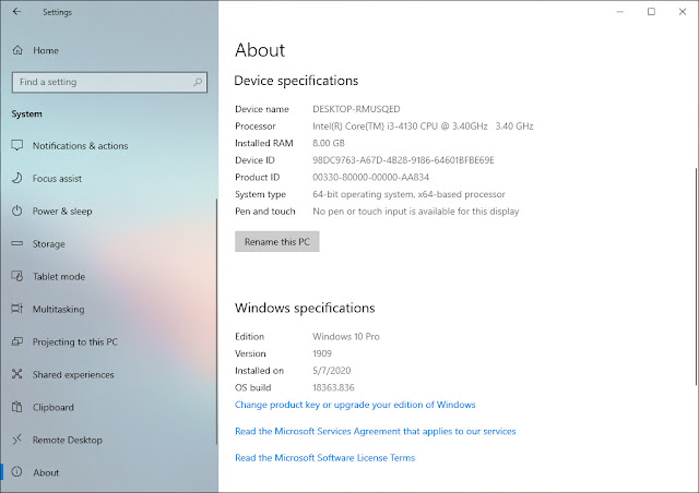 Windows Build 10 18363.8.36