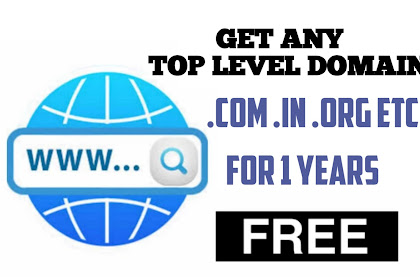 How to Buy Any Top Level Domain For 1 Years! for 100% Free