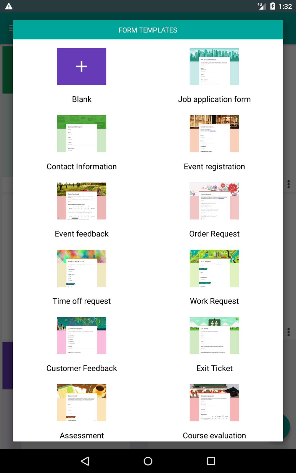 Google Form Template Google Forms App