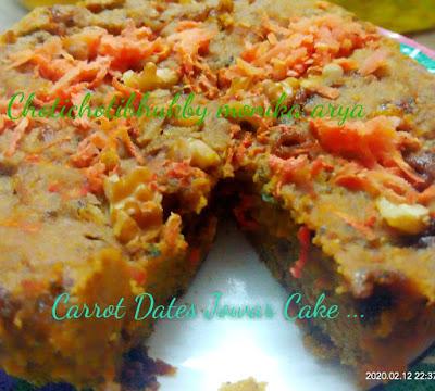 Carrot Dates Jowar Cake