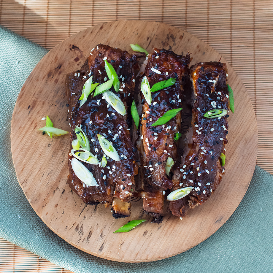Slow cooked sticky Asian style BBQ pork ribs | Local Food Rocks