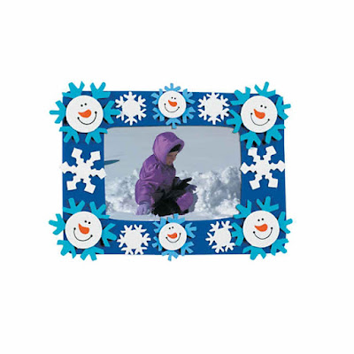 Smile Face Snowman Picture Frame