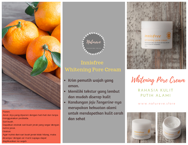 Innisfree Whitening Pore Cream krim pemutih