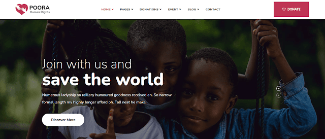 Nonprofit Fundraising & Charity WordPress Themes  With Donation System    Poora
