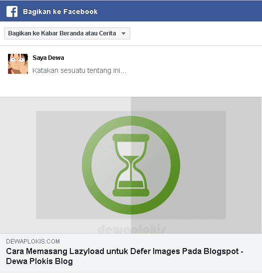 Menampilkan Gambar dan Deskripsi Share Facebook