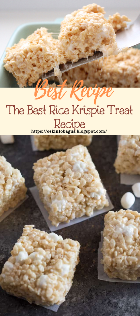 The Best Rice Krispie Treat Recipe #desserts #cakerecipe #chocolate #fingerfood #easy