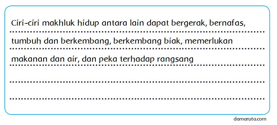 Ciri-ciri Makhluk Hidup (Halaman 14) - BELAJAR KURIKULUM 2013