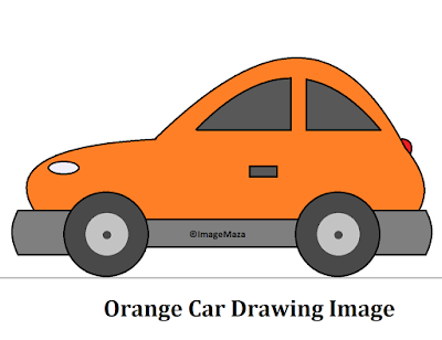 Car Drawing Image orange, Car Drawing for kids, how to draw car, car png images