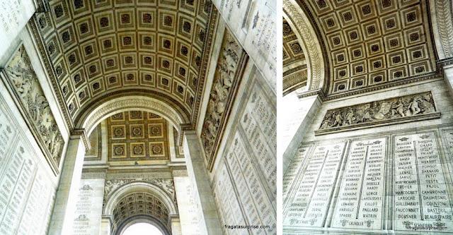 detalhe da decoração do Arco do Triunfo, Paris