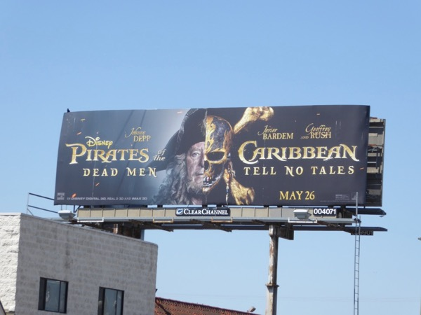 Barbossa Pirates of Caribbean Dead Men billboard