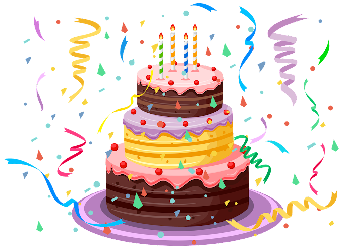 Birthday cake, Birthday Cake with Confetti, birthday cake illustration, baked Goods, food, baking png free png