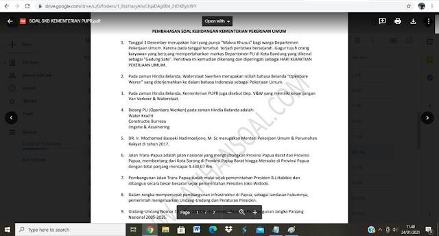 Contoh Pembahasan soal tes P3K Kementerian PUPR