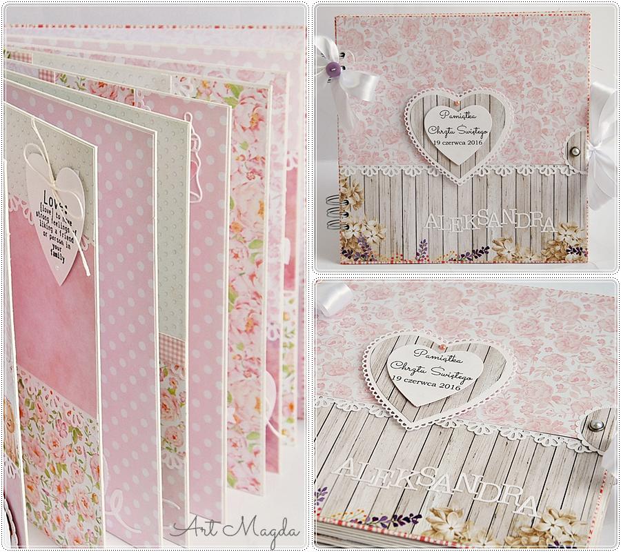 album handmade, ArtMagda, chrzest, prezent dla dziecka, ręcznie robiony
