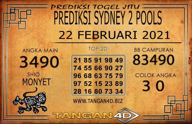 PREDIKSI TOGEL SYDNEY2 TANGAN4D 22 FEBRUARI 2021