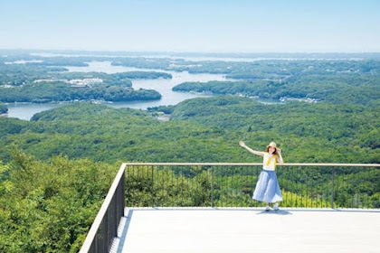 Wow! see the view from the terrace in Japan